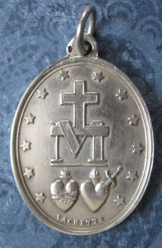 Adrien-Jean-Maximilien Vachette created the design for the original Miraculous Medal (or the Medal of the Immaculate Conception), after Saint Catherine Labouré's vision of the Blessed Virgin Mary. He produced and sold over two million of the medals between 1832-1836. Adrien-Jean-Maximilien Vachette (1753-1839) was a French goldsmith best known for the production of ornate gold boxes.