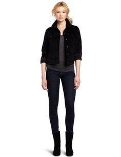 Levi's Women's Sherpa Trucker Jacket Levi's. $21.53. Sherpa collar. 98% Cotton/2% Elastane. Machine Wash. Made in China. Front pocket
