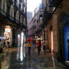 Rain in Barcelona, El Born