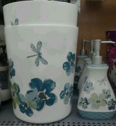 Mainstays Dragonfly Bath Accessories @ Walmart.