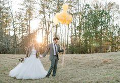 gold winter wedding inspiration