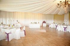 tented ceiling // Liesl & JC's pretty vintage wedding