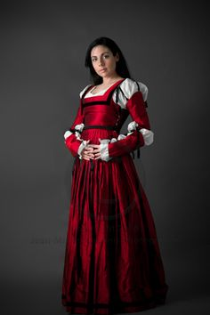 Red Renaissance Dress for maiden