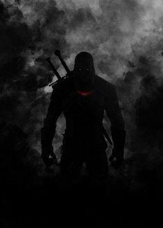 witcher geralt of rivia gaming games gamer video room smoke black killing monsters dragon sword figting killer dark