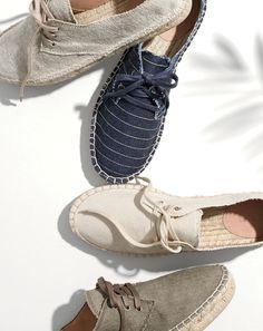 APR '15 Style Guide: J.Crew women's lace-up espadrille shoes.
