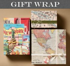 Wrap old frames with wrapping paper