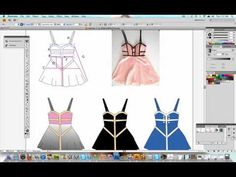 How to Illustrate your Fashion Designs - PART 2