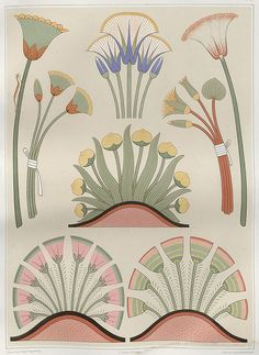 Prisse D'Avennes   Flowers and Plants from Various Ancient Egyptian Monuments