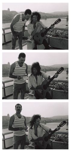 Freddie Mercury, Brian May in Budapest, Hungary, 1986 John Deacon, Star Citizen, Queen Brian May, Queen Pictures, Queen Photos, King Of Queens, Queen Ii, Roger Taylor, British Rock