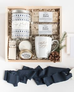 MASCULINE HOLIDAY GIFT BOXES perfect for corporate gifts, client gifts, hostess gifts and thank you gifts