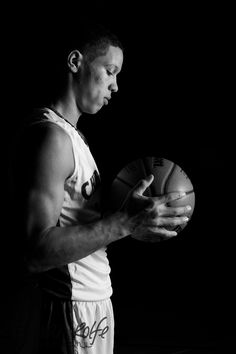 Senior Portraits, Basketball, Black and White