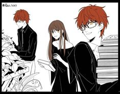 mystic messenger choi twins mc saeyoung choi saeran choi witch au i love this! precious little tomatoes aaahh Mystic Messenger Characters, Mystic Messenger Fanart, Manga Anime, Anime Art, Feliz Halloween, Anime Witch, Saeyoung Choi, Familia Anime, Shall We Date