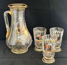 China Dinnerware Sets, Porcelain Dinnerware, Glass Pitchers, Stoneware, Glass Art, Enamel, Scene, Hand Painted, Crystals