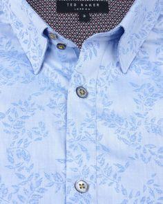 Jacquard shirt - Blue | Shirts | Ted Baker