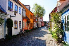 Møllestien, village idyll, 1870 - 1885, - Aarhus
