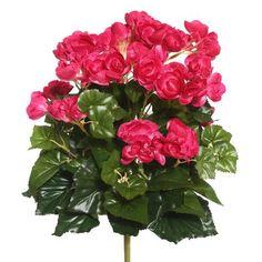Andover Mills Polyester Begonia Bush Stem Flower Color: Hot Pink