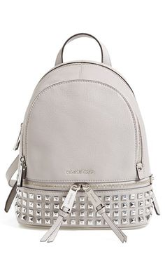 In Black of course   MICHAEL Michael Kors 'Extra Small Rhea Zip' Studded Backpack available at #Nordstrom