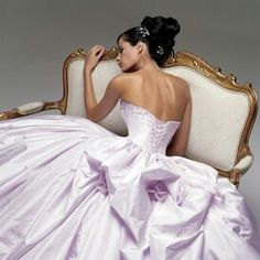 Purple Wedding Dress Strapless with Lavender Lilac Lace ...
