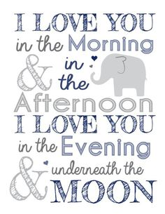 Such a perfect quote to hang on the wall of your sweet little baby's room. You will love them more than they will ever know.