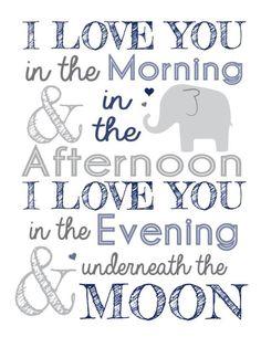 Elephant nursery print Art Print