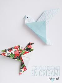 An origami bird - Chambre - Make a beautiful paper bird with this step-by-step tutorial. Origami Ball, Diy Origami Box, Gato Origami, Easy Origami For Kids, Origami Modular, Origami Paper Folding, Origami And Kirigami, Origami Bookmark, Useful Origami