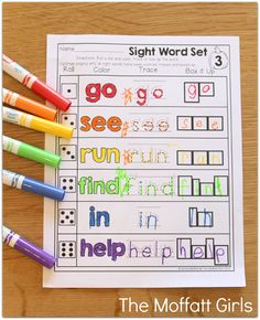 SIGHT WORDS: Roll a die, read a word, color, trace or box it up!  So many FUN and hands-on printables!