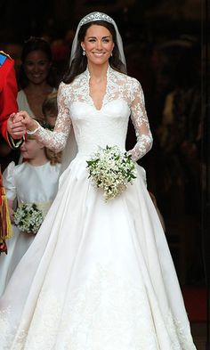 CATHERINE, DUCHESS OF CAMBRIDGE Designer: Sarah Burton for Alexander McQueen