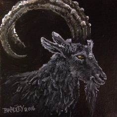 Daily Painting--Black Phillip from The Witch. Diane Bradley