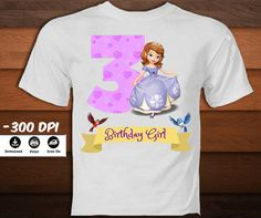 Personalized Sofia the First Iron on by KaleidoscopePrintArt