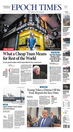 What a Cheap Yuan Means for Rest of the World Epoch Times #China #newspaper #editorialdesign
