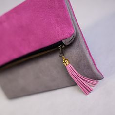 Fold over clutch in Color of Your Choice by meshkadesign on Etsy