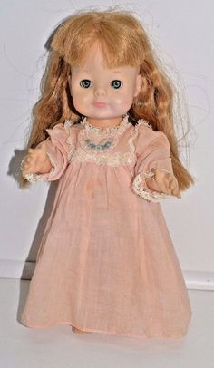 """Vogue Dolls 1964 Small 11"""" Pink Nightgown Open Shut Eyes Vintage Littlest angel 