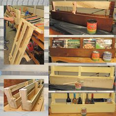 Pallet Upcycled to a Book or Wine Rack. Using General Finishes Milk Paints, Stains and Top Coats.