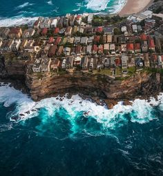 A staggering aerial perspective of the stunning suburb of Bondi in Sydney. Bondi Beach, City Beach, Surfers, Sydney Australia, Beautiful Beaches, Wonders Of The World, City Photo, Photo Galleries, River