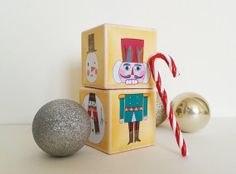 Christmas mix and match wooden blocks on Etsy, $16.63