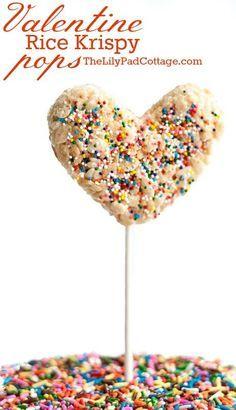 Valentine Rice Krispy Pops   The Lilypad Cottage