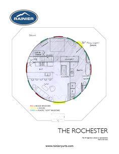 The Rochester - Yurt Floor Plan - Rainier Yurts