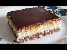 Bounty Kolac ne pece se No Bake za nepunih 10 minuta Torte Recepti, Kolaci I Torte, Bakery Recipes, Cookie Recipes, Dessert Recipes, Sweet Desserts, Sweet Recipes, Torta Recipe, Torte Cake