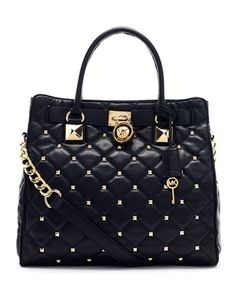 Large Hamilton Studded Quilted Tote Bag - Neiman Marcus | Michael ... : quilted tote bags cheap - Adamdwight.com