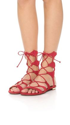 Schutz Erlina Lace Up Sandals #shoes  *Ups, i don't even know that my name has been name of a brand or something. hahaha.