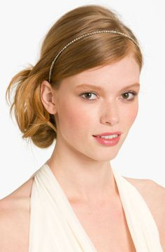 The perfect finishing touch for prom is a slender crystal headband.