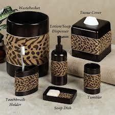 Cheetah Print Bathroom Counter Set