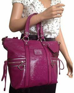 45a6ade105b8 Coach Patent Leather Pocket Berry Tote Bag  170 Bolsos De Mano De Coach