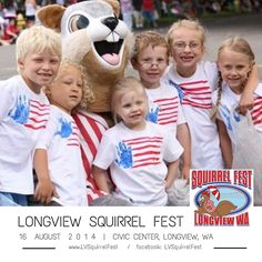 Longview Squirrel Fest August 16, 2014  Nuttiest Event in the Pacific Northwest