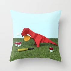 Yes T-Rex can! Throw Pillow by josemanuelerre Down Pillows, Throw Pillows, Crazy Home, T Rex, Poplin Fabric, Art For Sale, Pillow Inserts, Christmas Stockings, Artworks