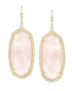 Ellen Drop Earrings in Rose Quartz - Kendra Scott Jewelry