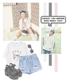 """Kim Jiwon"" by lazy-alien ❤ liked on Polyvore featuring Retrò, Bobby, kimjiwon and ikon"