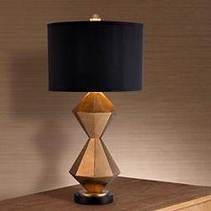 Bridget Double Diamond Gold Table Lamp