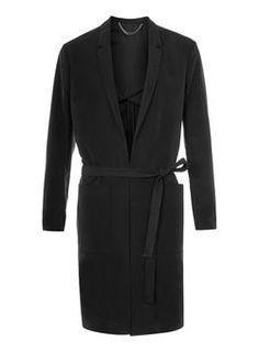 Trench long noir par Street Tailor Modèle De Gilet, Manteau Homme, Mode  Homme, ddd7c01b1a25