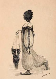 "Alfred Kubin, ""Judith with the Head of Holofernes,"" 1904, Pen and ink over pencil,"